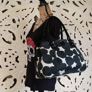 Kate Spade Large Canvas Shoulder Bag Tan & Black
